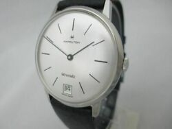 Nos New Vintage Swiss Stainless St Intra-matic Men's Hamilton Analog Watch 60's