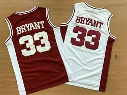 Kobe Bryant 33 Lower Merion High School Sewn Menand039s Basketball Jersey Red White