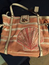 Coach Madison Audrey Leather Seashell Tote Brand New Never Used