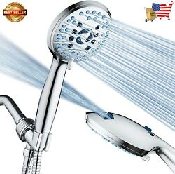 High Pressure 8-mode Handheld Shower Head - Antimicrobial Nozzles, Built-in Powe