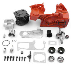 Crankcase Piston Cylinder Motor Kit 7tooth For Husqvarna 350 340 345 Chainsaw