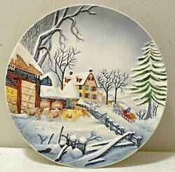 Rare Vtg '40s Old Castle French Zone 13.25 Relief Plate3709 From Germany Wwii