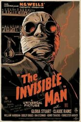 246500 Invisible Man Universal Monsters Horror Movie Art Poster Print