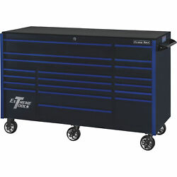 Extreme Tools Rx Series 72in.l X 30in.w 19 Drawer Tool Roller Cabinet - Black