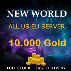 New World Gold Coins 10k Coins 10.000 Coin - All Us Server East / West / Eu