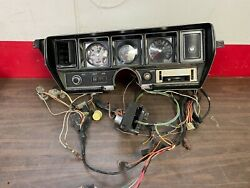 1970-72 Buick Gs Skylark Dash Cluster W/ Wire Harness And Tach 921