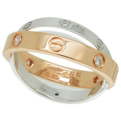 Be Love 6p Diamond Ring 50 About 10.5 K18pg Wg