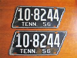 1956 Tennessee Original License Plate Tag Blount County Set