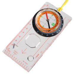 Outdoor Camping Hiking Survival Scouts Orienteering Compass Rule Base Plate Map