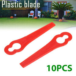 10pcs Lawn Mower Blade Plastic Cutter For Grass Trimmer Brushcutter Replacement