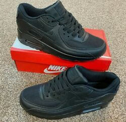 Nike Air Max 90 Essential Trainers In Black/ Adults Uk 6-11 | Brand New