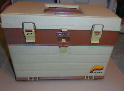 Vintage Plano Molding Company 757 Fishing Tackle Box Case Made In Usa