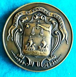 1936 Paris The Trade Union Of The French Grocery Art Deco Bronze Medal 50mm