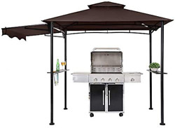 Fab Based 8x5 Grill Gazebo Outdoor Bbq Grill Patio Canopy Barbeque Gazebo Cano