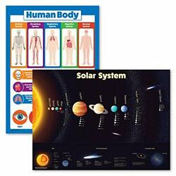 2 Pack - Solar System Poster For Kids And Understanding The 18 X 24 Laminated
