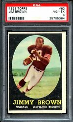 1958 Topps 62 Jim Brown Rc Psa 4 Cleveland Browns