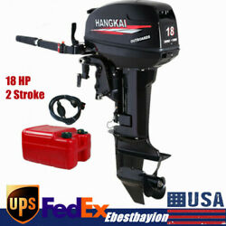 Hangkai 2 Stroke 18hp Outboard Motor Engine Fishing Boat Water Cooling System