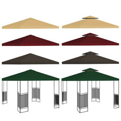 1 / 2 Tier 10ft Outdoor Gazebo Top Tent Cover Pop Up Sunshade Canopy Replacement