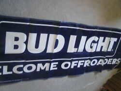 New Large Budweiser Bud Light Banner Sign Beer Welcome Offroaders Atv Pennants