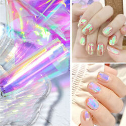 Nail Art Aurora Cube Cellophane Large Colorful Laser Candy Paper Color Stickfi
