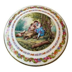 Limoge China The Romantic Period By Boucher Heavy Covered Dish Porcelain 12
