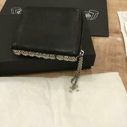 Chrome Hearts 3-sided Zip Leather Wallet With Original Invoice