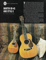 1928 Martin 00-45 Vintage Acoustic Guitar And 1920 Style E Mandolin Article Photo