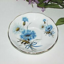 Royal Albert Bone China Saucer Blue Flowers Daisy England Vintage No Cup Floral