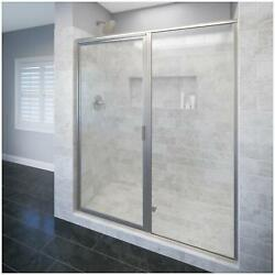 Basco Dlxh35a5972xp Deluxe 72-1/8h X 59w Pivot Framed Shower - Nickel