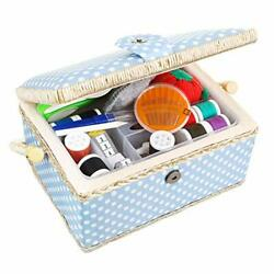Large Sewing Basket With Accessories Sewing Kit Storage And Organizer With Co...