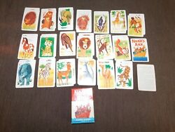 Vintage Version Of Old Maid Fairchild Noah's Ark Card Game Complete 39 Cards