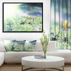 Designart 'beautiful First Spring Flowers At Dawn' Floral Small