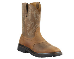 Ariat Menand039s Sierra Aged Bark Wide Square Toe Work Boots - Nib - Size 9/10/11/12