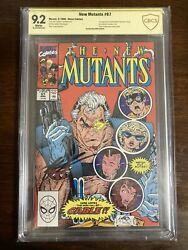 New Mutants 87 9.2 Cbcs Cgc Signed Rob Liefield