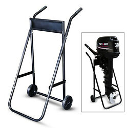 70kg Capacity Outboard Motor Engine Stand Carrier Cart Dolly Storage Heavy Duty