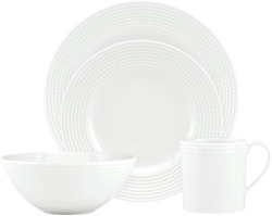 Kate Spade Wickford 4-piece Place Setting, 5.4 Lb, White