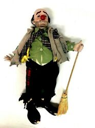 Clyde A Dynasty Doll Emmett Kelly Weary Willie Porcelain Bisque 20 In Hobo Clown