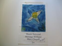 Marc Chagall Vintage Lithograph Rare Ehibition Hand Signed Modernist Bible