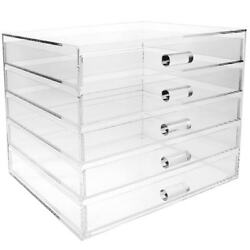Acrylic 5 Drawer Cosmetic and Jewelry Organizer Clear $40.51