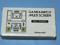 Commodity Oil Panic Nintendo Game Watch Outer Box With Instructions How To Play