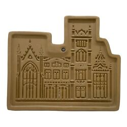 Hartstone Usa Cathedral Stoneware Cookie Mold 7andrdquox6andrdquo Architecture Castle Palace