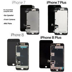 Lot Lcd Screen Assembly Touch Digitizer Frame Replacement For Iphone 7 8 Plus