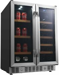 Edgestar Cwb1760fd 24w 17 Bottle Wine And 53 Can Beverage Cooler - Stainless