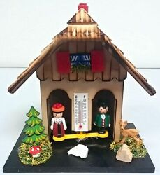 German Weather House With Wooden Couple Thermometer Made In Germany Weatherhouse