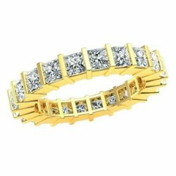 Ladies 3.00ct Bar Stackable Eternity Band Promise Ring Princess Diamond 14k Gold