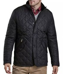 Barbour Chelsea Sportsquilt Water-resistant Quilted Jacket Black Size Xl