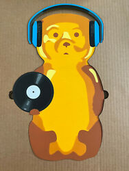 Fnnch Dj Honey Bear Maple Wood Limited Edition Xx/50 10.5x18.25 Sold Out