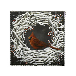 The Round Top Collection Galley Cardinal Snowy Wreath