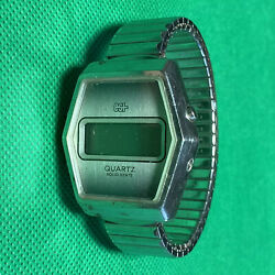 1970's Esi Digital Lcd Screen Vintage Band And Watch Quartz Solid State Japanese