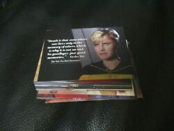 2021 Women Of Star Trek Art And Images Complete Quotable Expansion Set Q19-q36 And